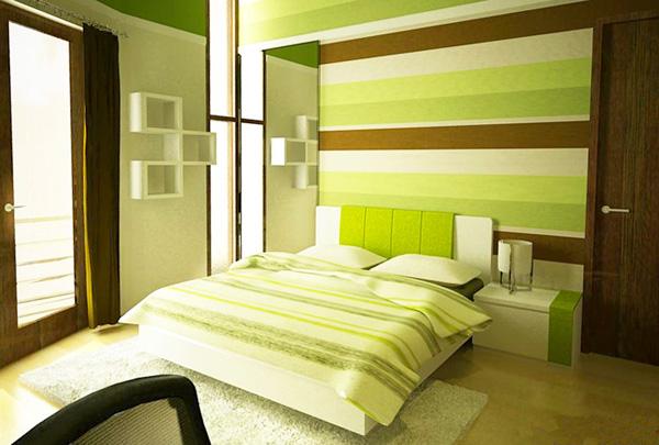 Спалня в зелено 2